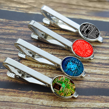 Personalized Electronic Circuit Board Tie Clips Mens Necktie Pins Buttons Computer Integrated Circuits Printed Glass Bars