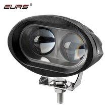 EURS 20 واط مصابيح الأمامية للدراجة النارية مصباح 3000K الأضواء اكسسوارات كشافات LED موتور بقعة إضاءة أمامية DRL 3000lm 6000K 12 فولت 24 فولت