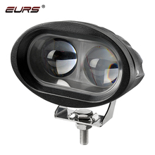 EURS 20W Motorcycle Headlights Lamp 3000K Spotlight Accessories headlamp LED Motor Spot Head Lights DRL 3000lm 6000K 12V 24V