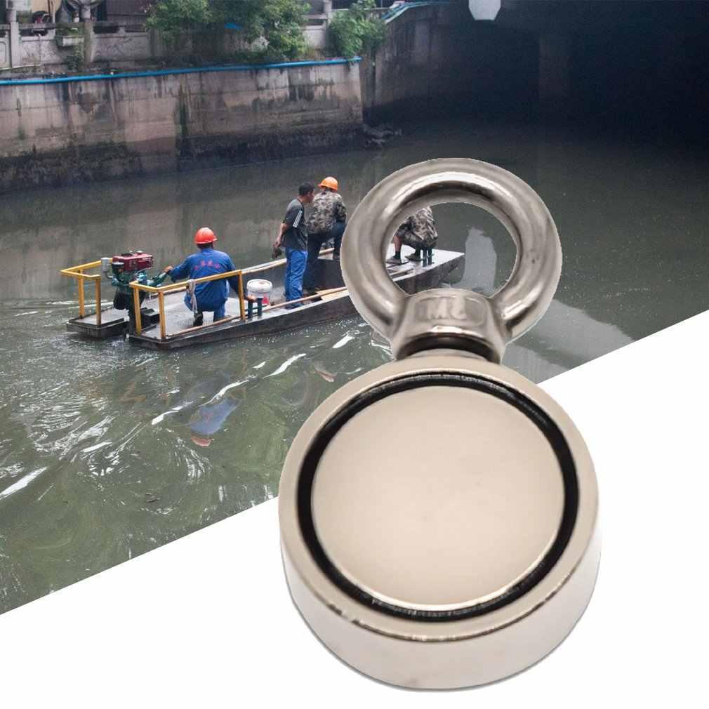 200/300/500 кг магнитов NdFeB (неодим-Сталь двойной на одной стороне Неодимовый металлический магнит детектор рыболовные + 10 м веревки