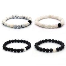 BOFEE Essential Oil Diffuser Bracelet Natural Lava Stone Adjustable Yoga Bead Buddha Hand Chain Men Women Fashion Jewelry Gift
