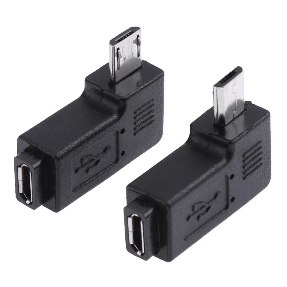Micro Adapter USB 2pcs 90 Degree Micro USB Female to Micro USB Male Adapter Connector 90 Degree Left+Right Angle Adapter