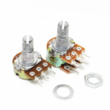 5PCS/LOT WH148 B5K Linear Potentiometer 15mm Shaft With Nuts And Washers Hot 3Pin High Quality