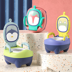 Portable Bedpan Potties Seat Toilet with 3 Kinds Cartoon Design For Baby Potty Training