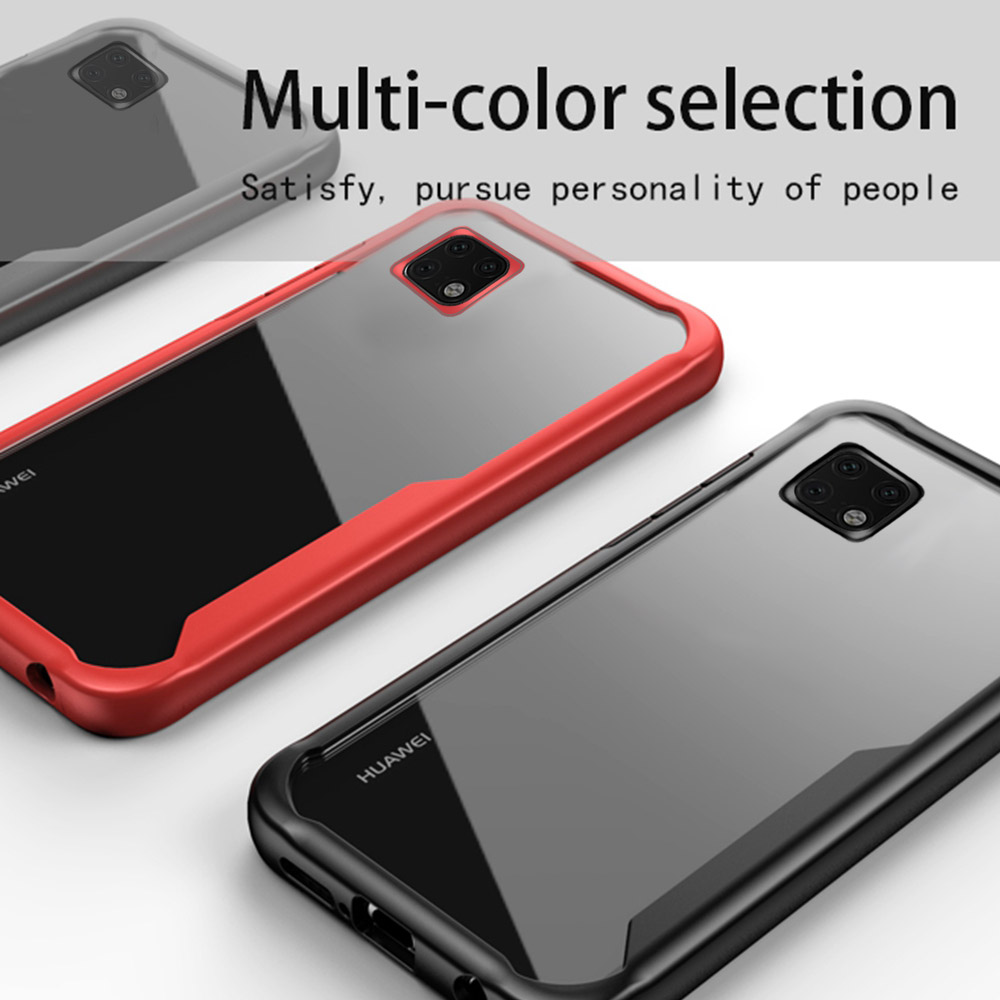 For iPhone 11 Rro Case Shockproof Soft TPU Bumper Acrylic Armor Transparent Back Cover Pro Max XI Clear