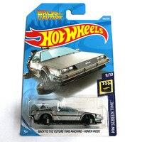 2019 Hot Wheels 1: 64 auto TERUG NAAR DE TOEKOMST TIJD MACHINE HOVER MODUS Collector Edition Metal Diecast Cars Kinderen Speelgoed Gift