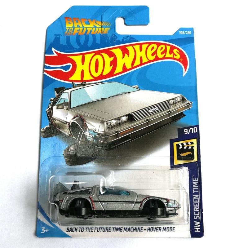 2019 Hot Wheels 1: 64 carro MÁQUINA do TEMPO de VOLTA PARA O FUTURO HOVER MODO de Edição de Colecionador de Metal Diecast Carros Crianças Brinquedos de Presente
