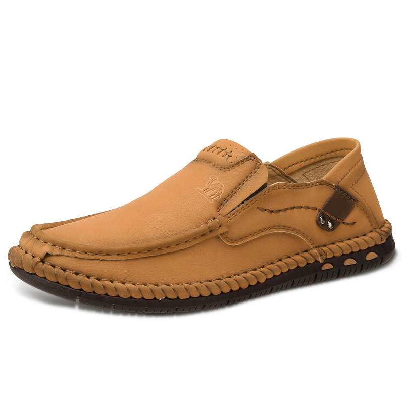 CAMEL Men Comfortable Oxford Loafers Shoes Lightweight Suture Elastic Soft Male Outdoor Hiking Walking Shoes Eur 40-46