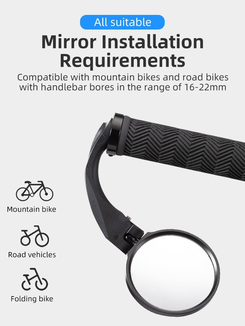 BICYCLE MOBILITY ROUND MIRROR GLASS MOUNTAIN ROAD BIKE H5S4