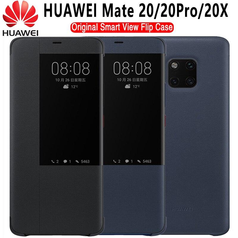 Чехол для HUAWEI Mate 20 Pro, Оригинальный чехол для Huawei Mate 20 X, откидной Чехол для Mate 20, умный защитный чехол с окошком для просмотра, чехол для Huawei Mate ...