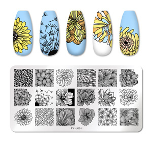 Image 3 - PICT YOU Rose Flower Series Stamping Plates Stainless Steel Nail Image Plate Stamp Template idea nail Plate