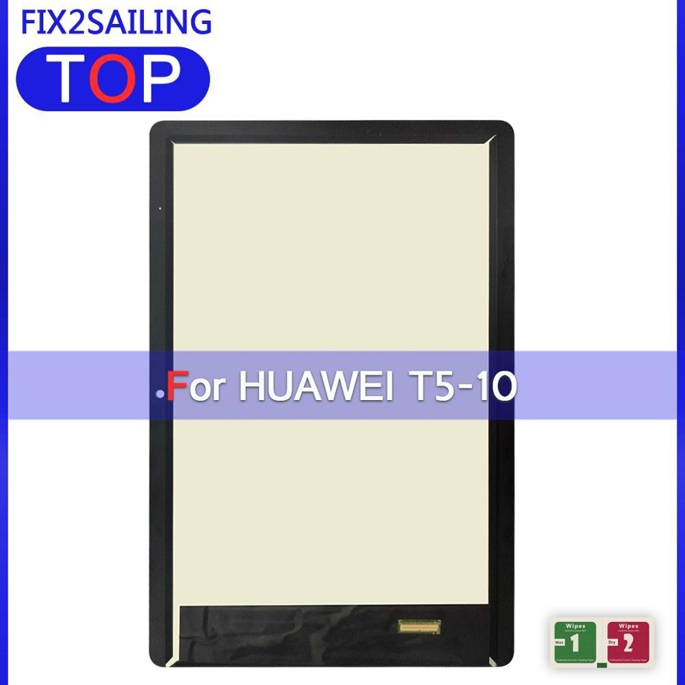 ЖК-дисплей для Huawei MediaPad T5, 10 дюймов, планшетов T5, ЖК-дисплей, сенсорный экран с цифровым преобразователем в сборе