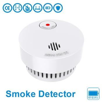 цены CPvan SM01 Wireless Smoke Sensor 10 Years Battery EN14604 CE Certified Smoke Detector Fire Detector Fire Alarm Detector Smoke