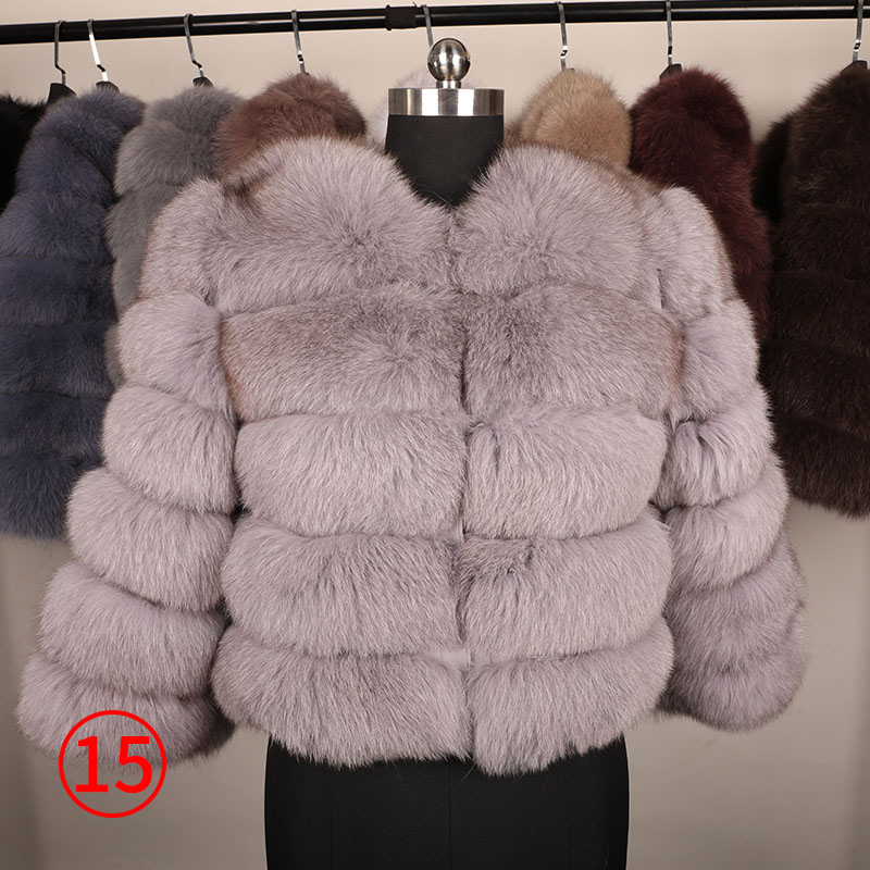 maomaokong 50CM Natural Real Fox Fur CoatWomen Winter natural fur Vest Jacket Fashion silm Outwear Real Fox Fur Vest Coat Fox 30