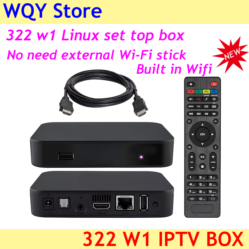 Iptv-Box Linux3.3 Built-In-Wifi 322 W1 Top Powerful-Set HEVC Open-Gles2.0 H.265 New-Arrival