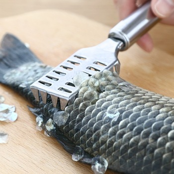 Stainless steel fish scale kitchen using practical fish-killing scale scraper to fish scale god fish brush metal tool scale image