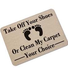 Прямая поставка забавный коврик на ваш выбор домашний для приветствия
