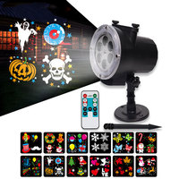RGB Halloween Led Lights Outdoor Garden Lawn Decoration Christmas Shower Projector For Home With Timer 12 patterns