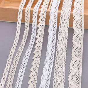 5/10Yards White Cotton Embroidered Lace Trim Ribbons Fabric DIY Handmade Craft Clothes Sewing Accessories Supplies