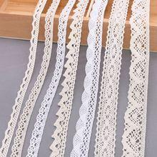 Cinta blanca de encaje bordado de 5 o 10 yardas para costura DIY, artículos y accesorios para confección y costura de ropas, artesanías hechas a mano