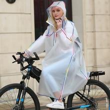 Long Raincoat Women Biking Backpack-Style for Mutifunctions