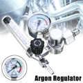 0-25Mpa Argon Regulator CO2 Mig Tig Flow Meter Gas Regulator Flowmeter Lassen Weld Gauge Argon Regulator Drukregelaar