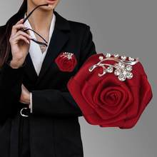 8piece/lot Silk Ribbon Wedding Party Groom Groomsmen Buttonhole Corsage Men's Suit Lapel Pin Ceremony Flower Boutonniere XH0038(China)