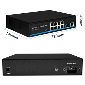 Image 4 - 8 port PoE Switch Gigabit Switch  Ethernet switch with 2 SFP support IP cameras and Wireless AP 10/100/1000Mbps network switch
