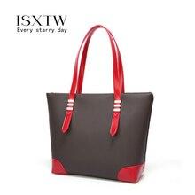 ISXTW 2019 Big Women Handbag Leather Splice Shoulder Bags Designer Messenger Ladies Casual Tote sac a main/B30