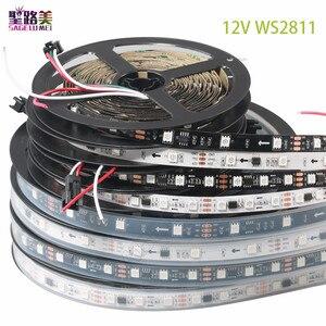 Image 1 - DC12V 5M WS2811 LED פיקסל רצועת אור Rgb מלא צבע 5050 Led רצועת סרט גמיש מיעון דיגיטלי LED קלטת 1 Ic בקרת 3