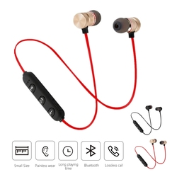 5.0 Wireless Bluetooth Earphone Portable Neckband Stereo Headphones Mini Mobile Sport Earbuds Headset With Mic For All Phone