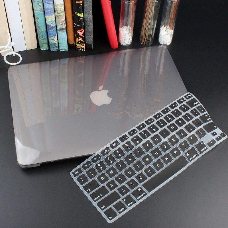 Чехол для ноутбука 4 в 1 для MacBook Air 11, 13 дюймов и Pro retina 13,3, 15,,,, кристально Матовый Жесткий чехол для клавиатуры - Цвет: Crystal Grey