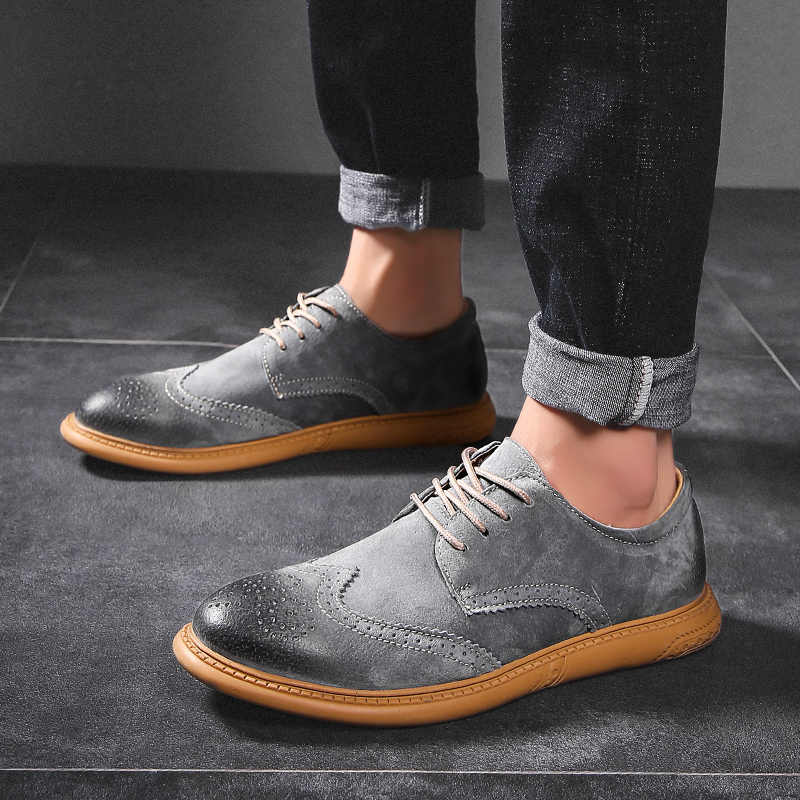 New British Style Casual Brogues Shoes