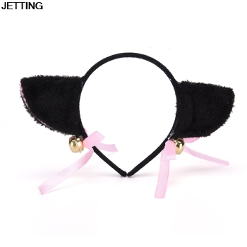 1 Pcs Lovely Night Party Club Bar Decorate Headbands Plush Cat Fox Fur Ear Hairband Girls Anime Cosplay Costume Cat Ear Hairwear image