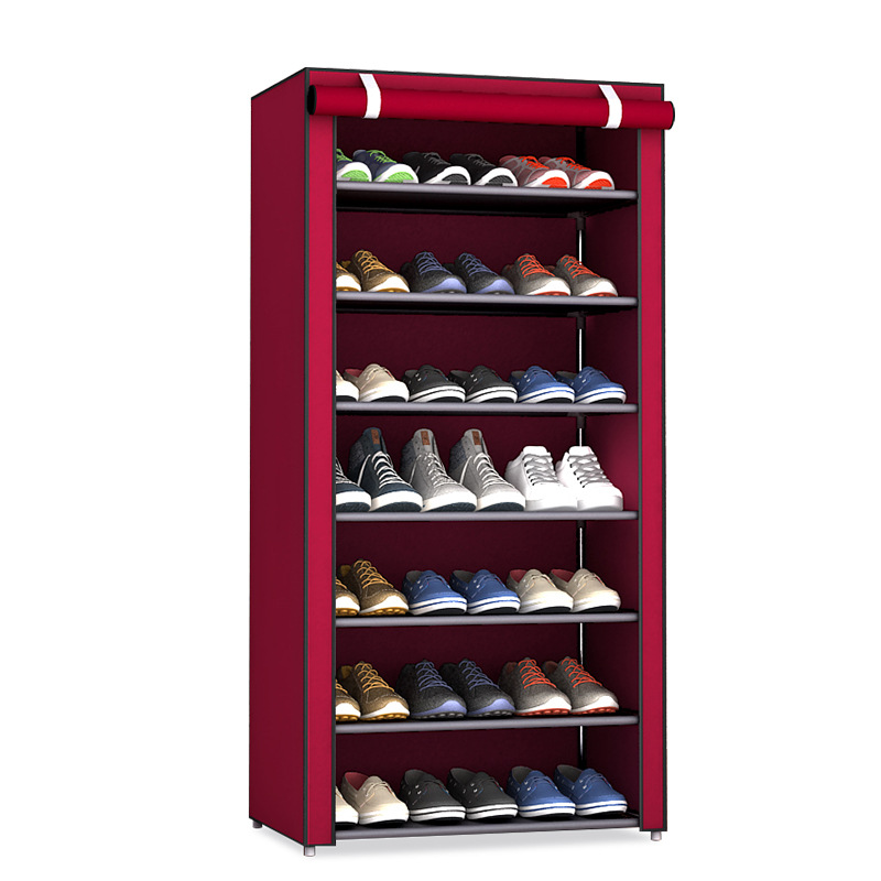 Dustproof 8 Layers 10 Layers Shoes Cabinet Shoe Rack Fabric Furniture Home Bedroom Dormitory Shoe Rack Organizer Ins Minimalist