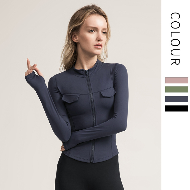 Women's Cardigan Jacket Yoga Suit Sports Coat Women Fall And Winter Body-building Suit Leisure Running Top