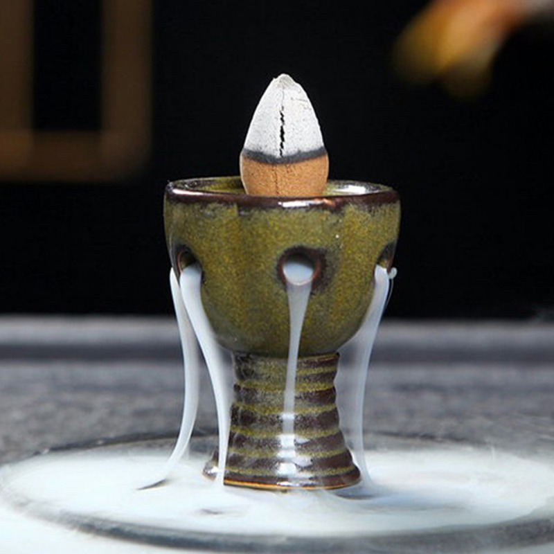 Mini Waterfall Backflow Tower Cones Incense Burner Bedroom Aromathera Diffusers Home Decor Holder