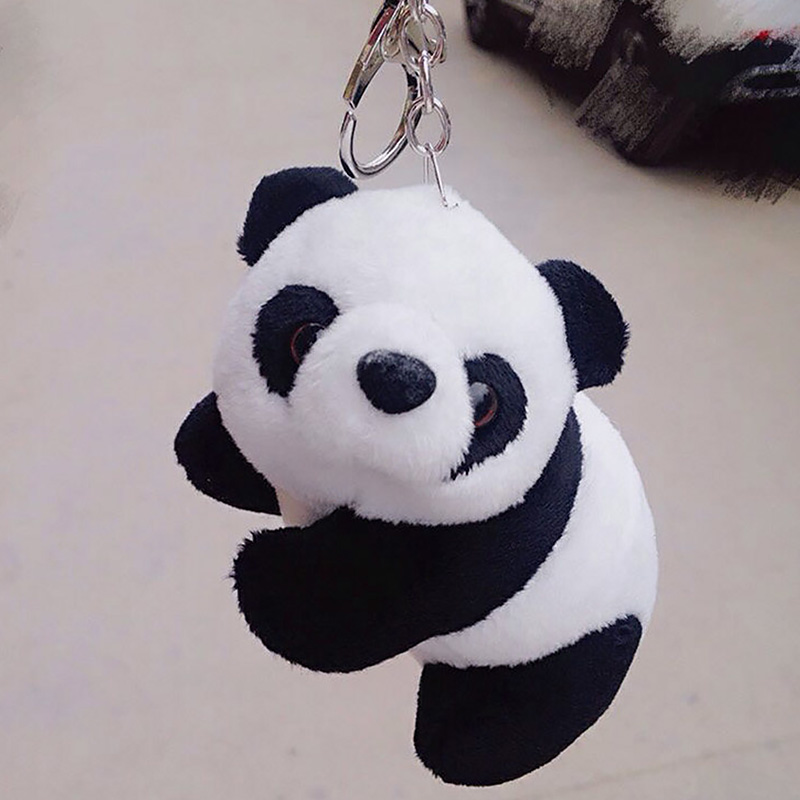Милый китайский брелок для мужчин и женщин цепочка для ключей рюкзак сумка автомобиля подвеска плюшевая кукла с брелком-держателем для клю...