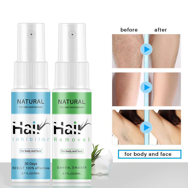 Hair Removal Sprays Inhibitor Hair Growth Serum Prevents Hair Growth Removal Repair Mild Nourish Pores Shrink Dropship TSLM1