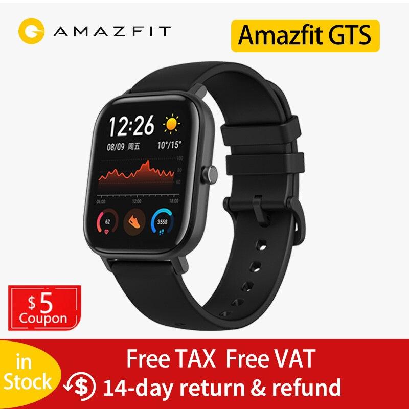 Global Versie Amazfit Gts Smart Horloge 14 Dagen Batterij Leven Huami Gps Sport Horloge Hartslag 5ATM Waterdichte Smartwatch