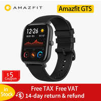 Global Version Amazfit GTS Smart Watch 14 Days Battery life Huami GPS sport watch Heart Rate 5ATM Waterproof Smartwatch