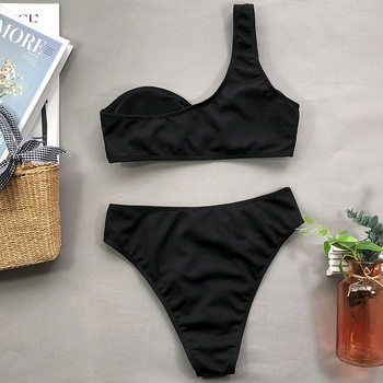 Ingaga Off Shoulder High Waisted Bikini 6