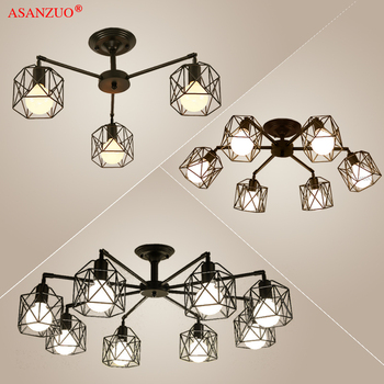 Modern Black Chandelier Lighting American Iron Cage Ceiling Lamp Light Fixtures Kitchen Luminiare Bedroom Living Room Home Light Buy At The Price Of 11 55 In Aliexpress Com Imall Com,Navy Blue Accent Wall Living Room Ideas