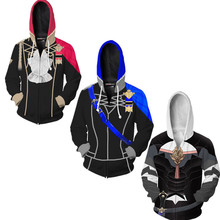 3D Print Hoodies Anime Fire Emblem: Three Houses Men/Women Hooded Pullover Long Sleeves Streetwear Unisex Sweatshirts Cosplay