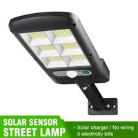 Farola Solar de 150 COB para exteriores, lámpara de pared de seguridad, impermeable, con Sensor de movimiento PIR, lámpara de Control remoto inteligente, 500-1000W