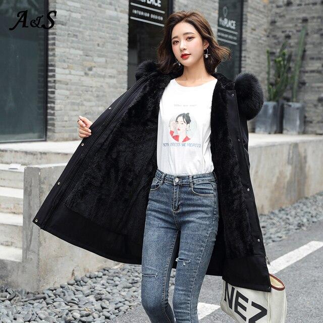 Фото женская куртка с капюшоном anbenser зимняя теплая повседневная