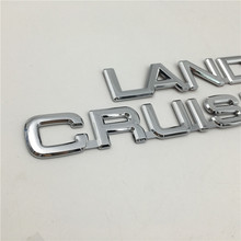 For Toyota Land Cruiser Prado Rear Trunk Boot Emblem Hatchback Badge Logo Car Ornament
