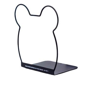 Kawaii Rabbit Cat Metal Book Holder Desktop Bookends Desk Organizer Stand Shelf Office School Stationery недорого