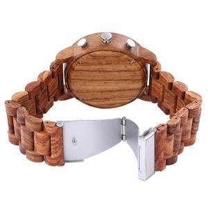 Image 5 - Mens Watch Shifenmei Brand Wood Watches Roll Army Digital Clock Chronograph Luxury New Desgins Wooden WristWatch Reloj Hombre