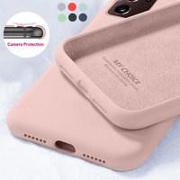 Nuevo Original líquido suave de silicona caso para Samsung S20 FE S20 UItra S10 S9 S8 Plus Nota 20 Ultra S10E A51 A50 A71 A70 A21S A30